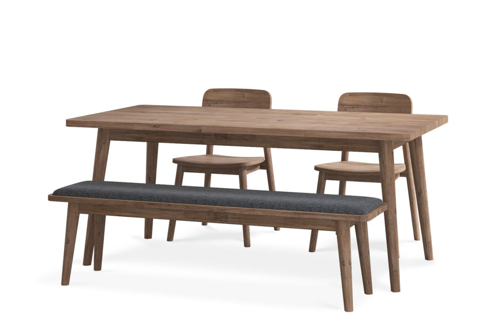 Seb Dining Table With Bench And 2 Chairs Castlery United States