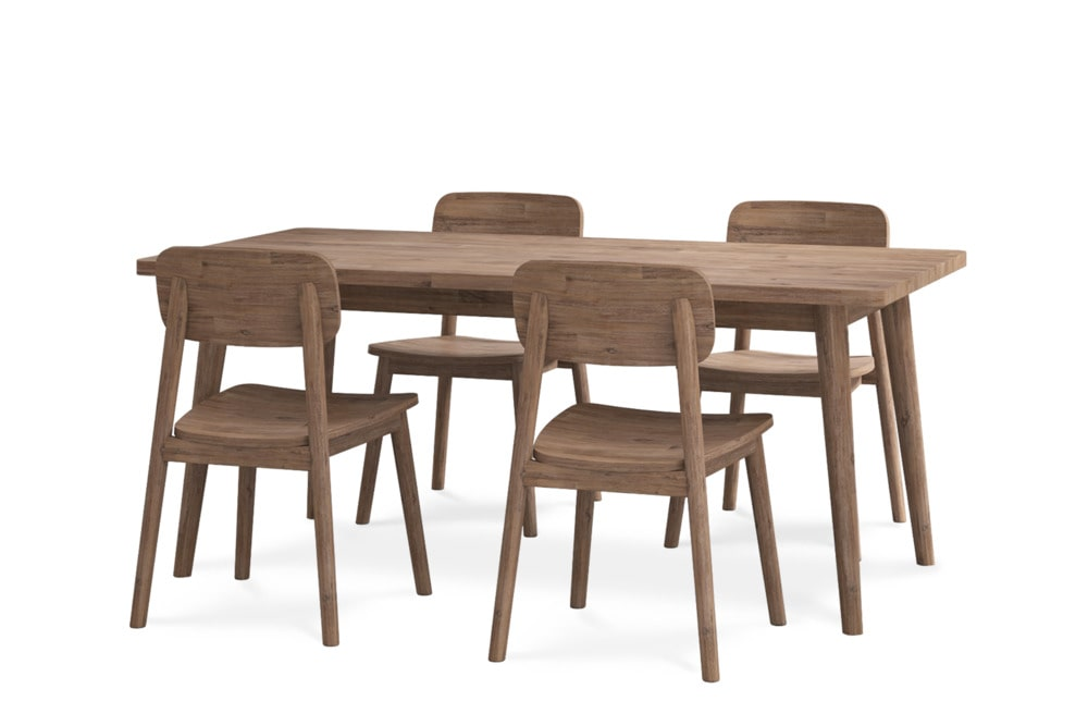 Seb Dining Table With 4 Chairs Castlery United States