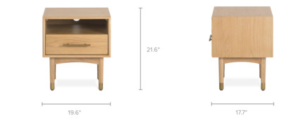 dimension of Chelsea Side Table