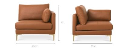 dimension of Adams Right Corner Sofa Leather