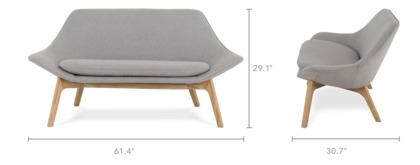 dimension of Gable Loveseat