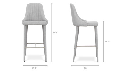dimension of Torri Counter Stool