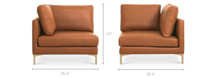 dimension of Adams Corner Sofa Leather