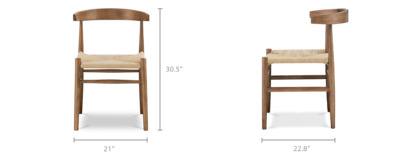 dimension of Wyatt Chair