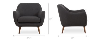 dimension of Capella Armchair