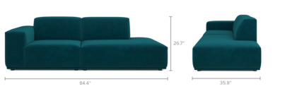 dimension of Todd Side Chaise Sofa