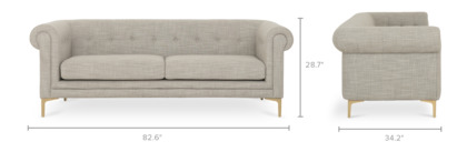 dimension of Ines Sofa