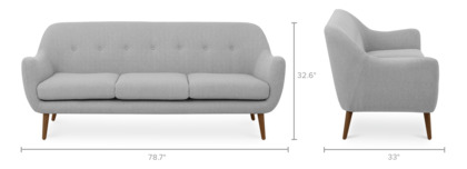 dimension of Capella Sofa