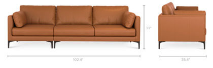 dimension of Adams Sofa Leather