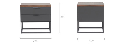 dimension of Alfred Side Table