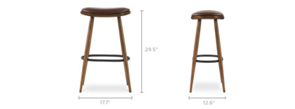dimension of Abel Bar Stool Leather