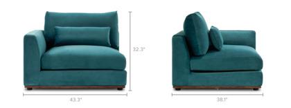 dimension of Alfie Left Corner Sofa