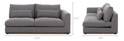 dimension of Alfie Right Facing 2-Seater Sofa