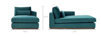 dimension of Alfie Right Chaise