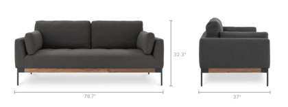 dimension of Ethan 3 Seater Sofa