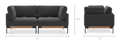 dimension of Ethan Loveseat