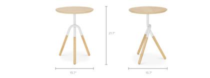 dimension of Zane Side Table, Oak