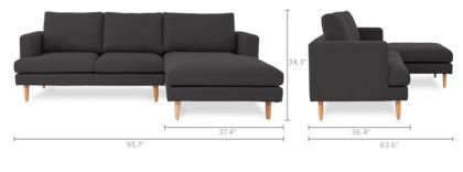 dimension of Tana Sectional Sofa