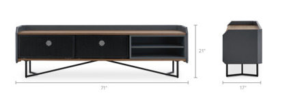 dimension of Hex TV Stand