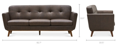 dimension of Hans Sofa Leather
