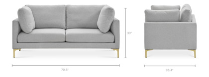 dimension of Adams Loveseat