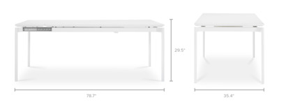 dimension of Arvid Extendable Dining Table