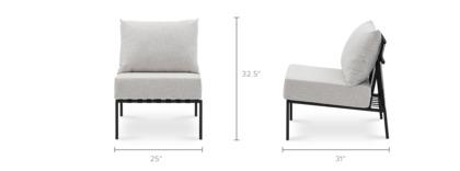 dimension of Sorrento Armless Sofa