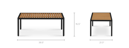 dimension of Sorrento Outdoor Coffee Table