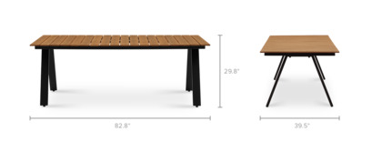 dimension of Sorrento Outdoor Dining Table