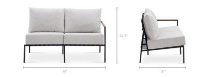 dimension of Sorrento Right Facing 2 Seater Sofa