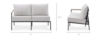 dimension of Sorrento Outdoor Left Facing 2 Seater Sofa
