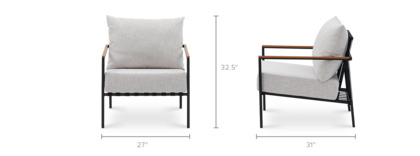 dimension of Sorrento Outdoor Lounge Chair