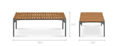 dimension of Vista Outdoor Coffee Table