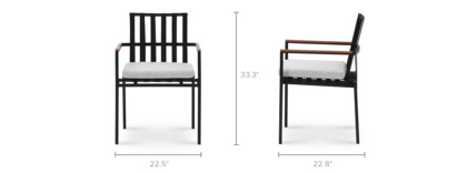 dimension of Sorrento Outdoor Dining Chair
