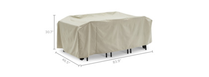 dimension of Sorrento Outdoor Dining Set Cover