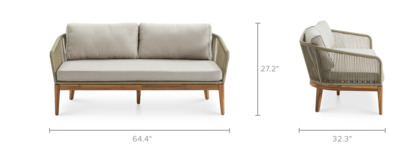 dimension of Maui Outdoor Loveseat