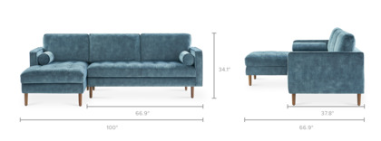 dimension of Madison Sofa Sectional