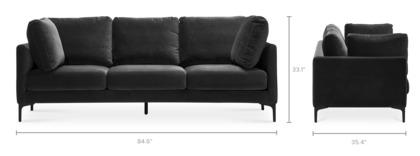 dimension of Adams Sofa