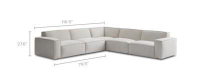 dimension of Jonathan L-Shape Sectional Sofa