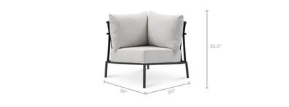 dimension of Sorrento Outdoor Corner Sofa
