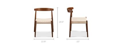 dimension of Austen Chair, Walnut