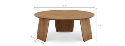 dimension of Jaxon Round Coffee Table