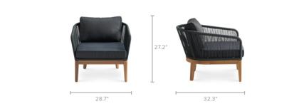 dimension of Maui Lounge Chair Set